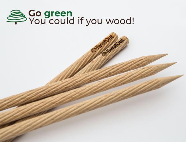 Twist Out Abflussreiniger aus Holz 8 Stück