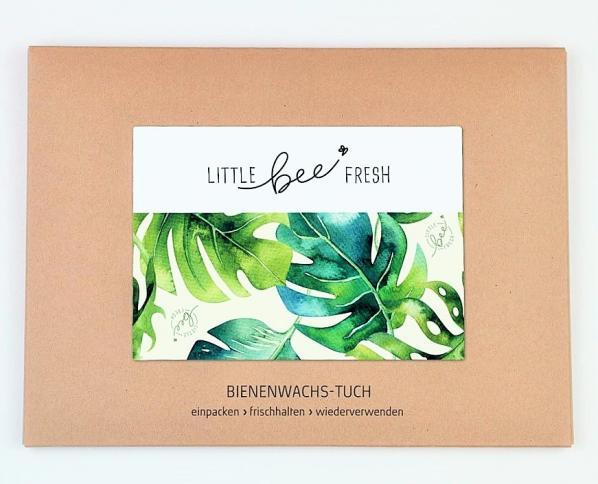 Bienenwachstuch von Little Bee Fresh mit dem Motiv Green Jungle
