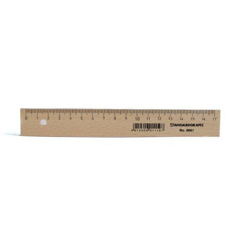 Holzlineal Länge 17 cm