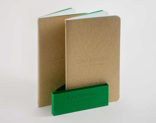Zwei Notizbücher A5 mit grüner Banderole