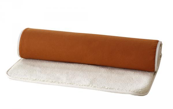 Terracottafarbene Yogamatte aus Wolle und Baumwolle