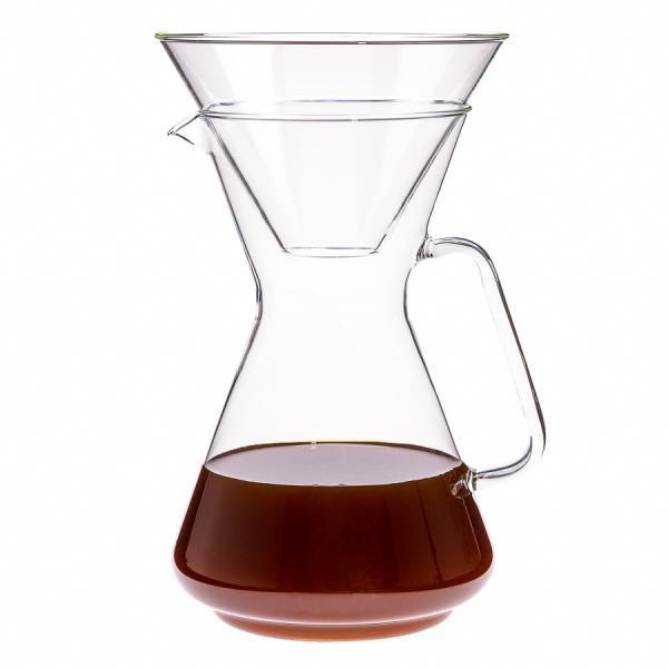 Kaffeebereiter aus Glas