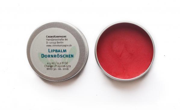 Lippenbalsam in der Metalldose Jorinde/Dornröschen von Cremekampagne