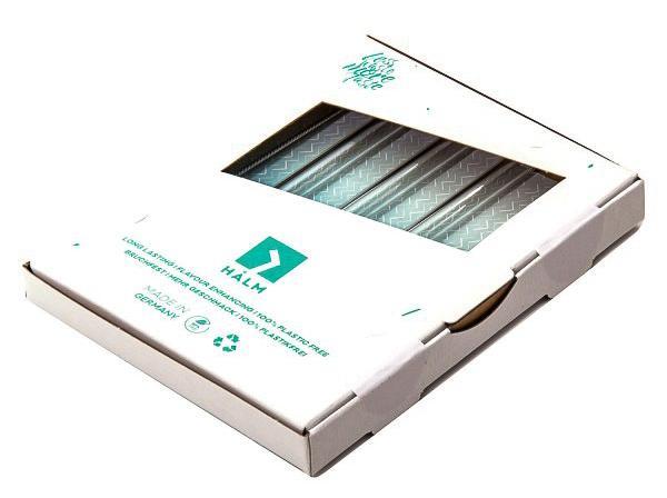 Glashalme in der Verpackung