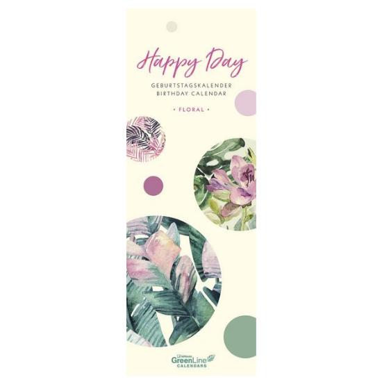 Wand-Geburtstagskalender mit floralem Motiv