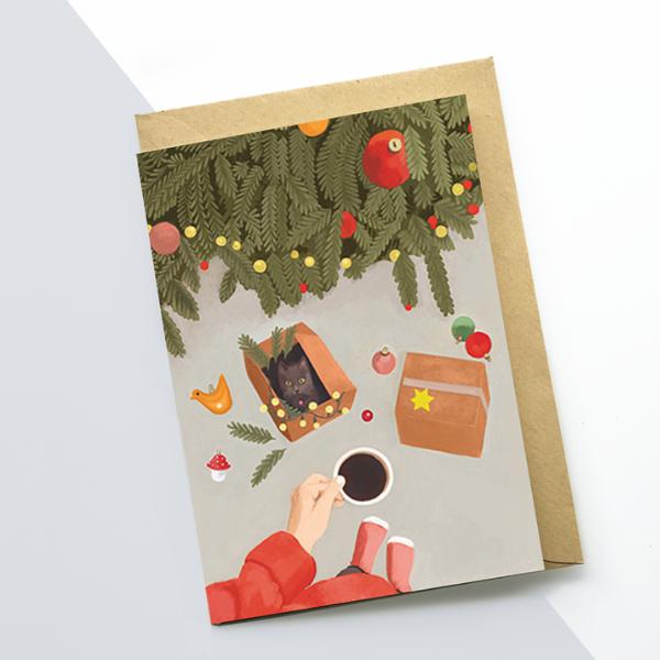 Weihnachtsgrußkarten, nicht eingeschweißt