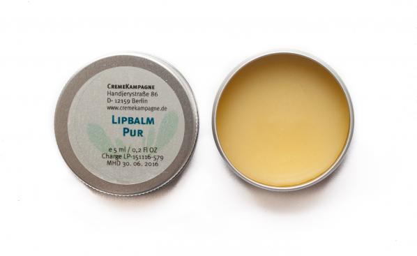 Lippenbalsam in der Dose natur von Cremekampagne
