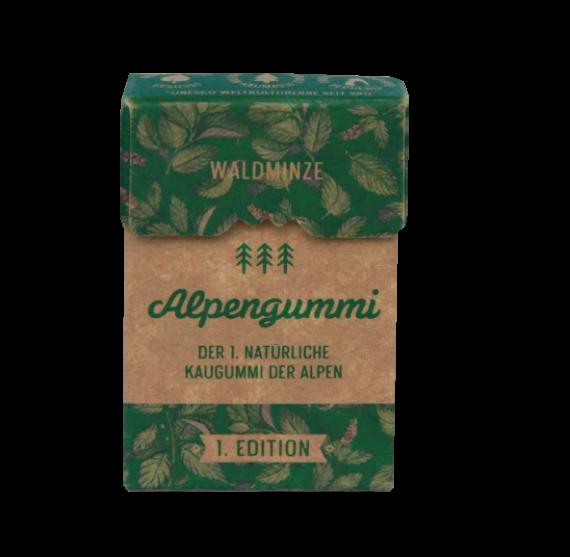 Eine Schachtel Alpengummi-Kaugummis