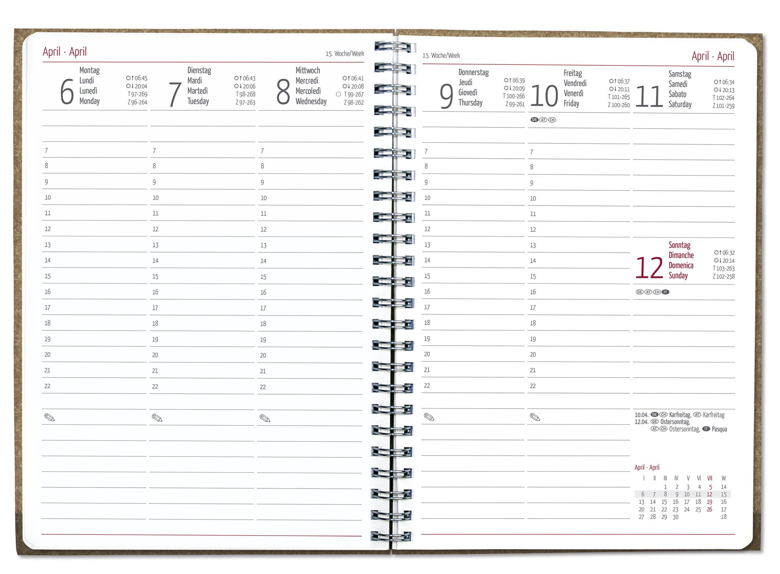 Alpha Edition Buchkalender 2021 beige