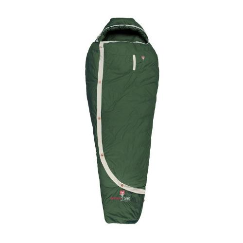 Grüner Schlafsack