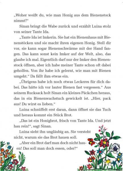 Ausschnitt aus dem Booklet zum Luina-Bienenwachstuch