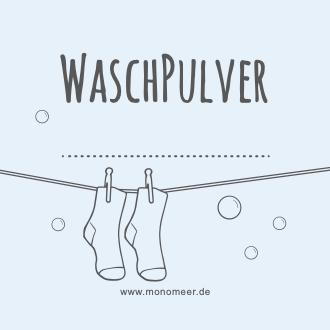 Etikett für Waschpulver