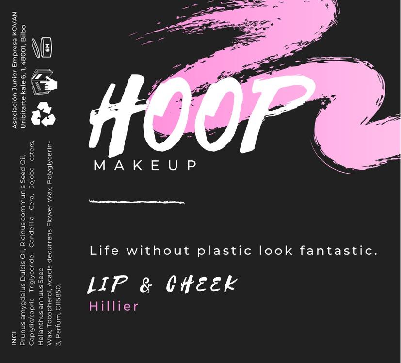 """Label des Lip- & Cheek-Tints """"Hillier"""" von Hoop Cosmetics"""