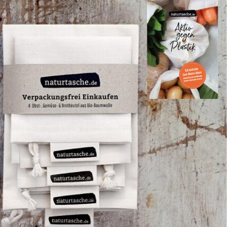 Naturtasche Gemüsebeutel aus Bio-Baumwolle 4er-Set