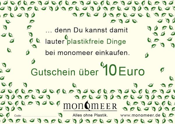 10 Euro-Gutschein von monomeer.de