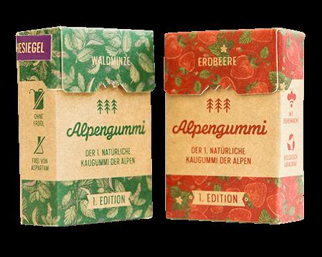 Alpengummis Erdbeere und Minze