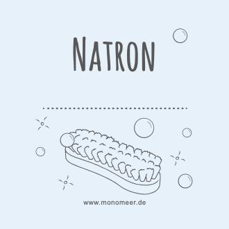 """Etikett mit der Aufschrift """"Natron"""""""