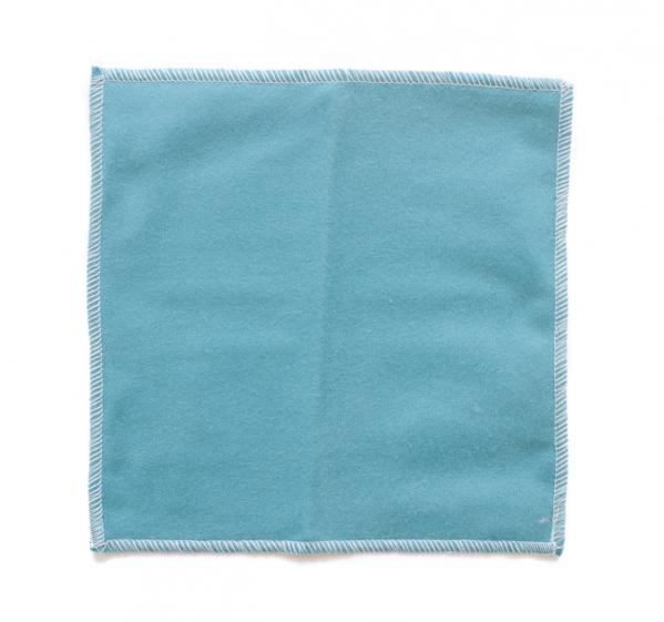 Blaues Haushaltstuch aus Baumwolle