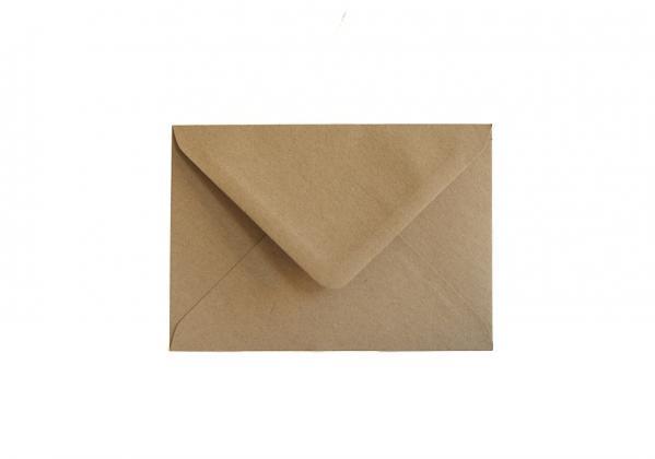 Briefumschlag C6 aus Kraftpapier