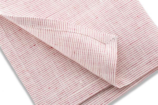 Rot-weißes Taschentuch aus Leinen