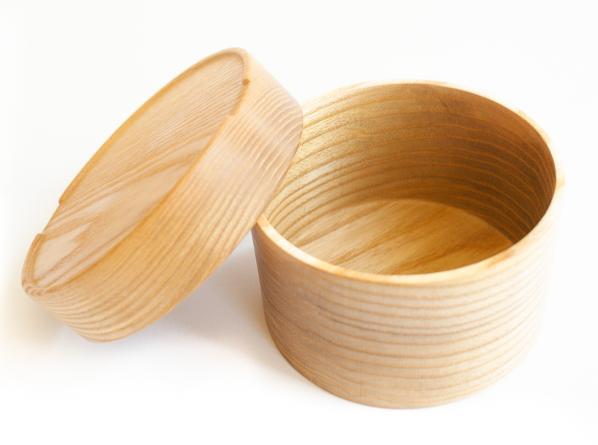 Kleine runde Bentobox aus Holz