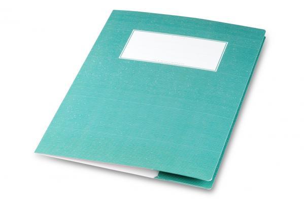 Grüner Heftumschlag aus Karton